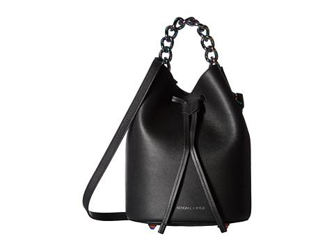 KENDALL + KYLIE Ladie Mini - Black Soft Textured Leather/Iridescent Hw
