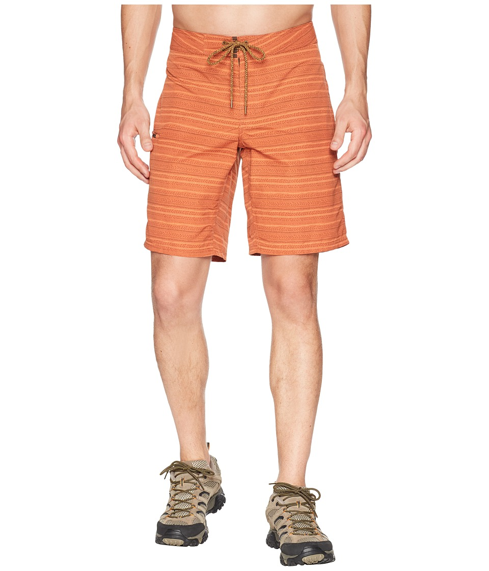 Toad&Co - Cetacean Trunk (Terra Cotta Stitch Print) Mens Swimwear