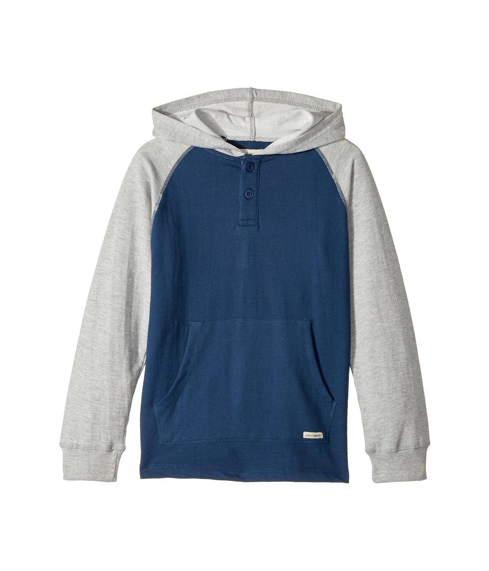 Lucky Brand Kids - Long Sleeve Raglan Pullover Hoodie
