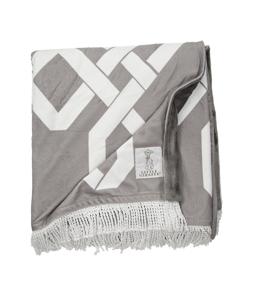 Little Giraffe - Bliss Windowpane Throw (Charcoal) Accessories Travel