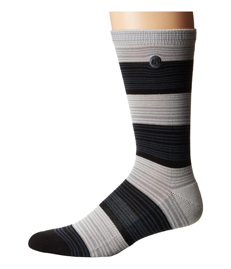 TravisMathew - Kleinbrook (Black) Mens Crew Cut Socks Shoes