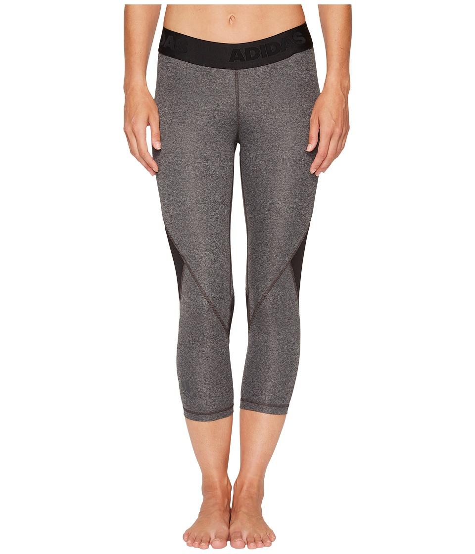 adidas Alphaskin Sport 3/4 Tights (Dark Grey Heather) Women