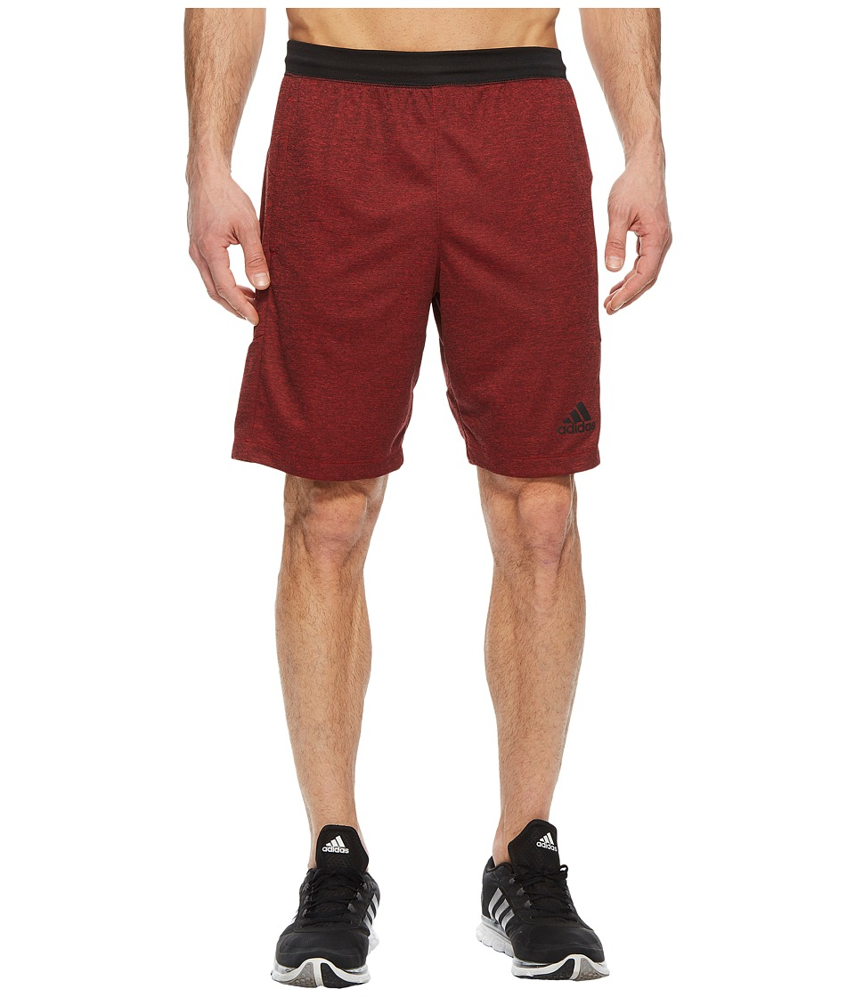 adidas - SpeedBreaker Hype Shorts (Scarlet/Colored Heather) Mens Shorts
