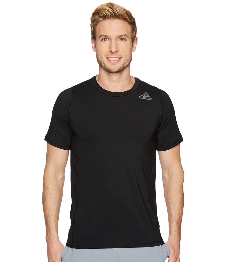 adidas - Alphaskin Sport Fitted Short Sleeve Tee (Black) Mens T Shirt
