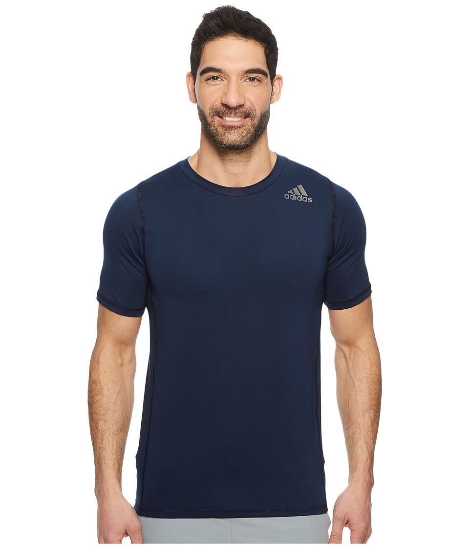 adidas Alphaskin Sport Fitted Short Sleeve Tee (Collegiate Navy) Men