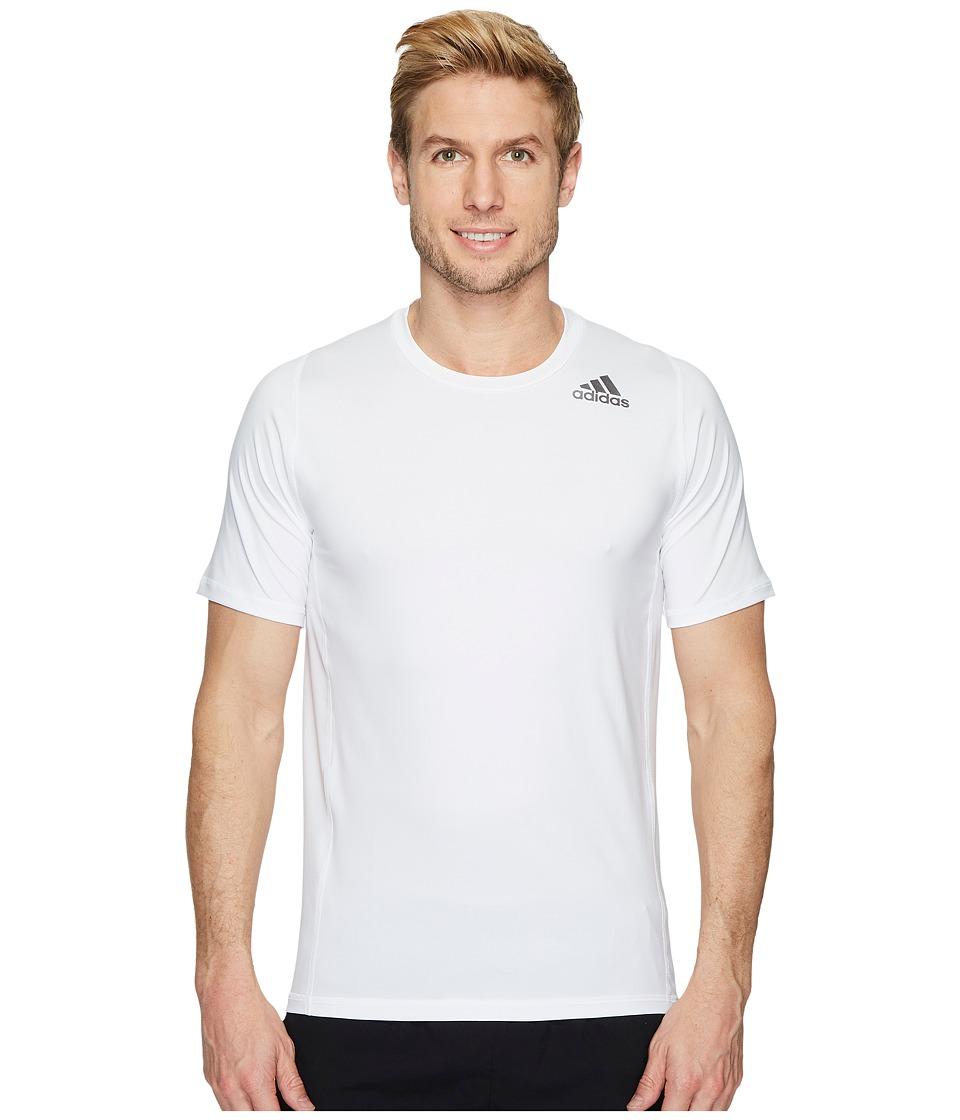 adidas Alphaskin Sport Fitted Short Sleeve Tee (White) Men