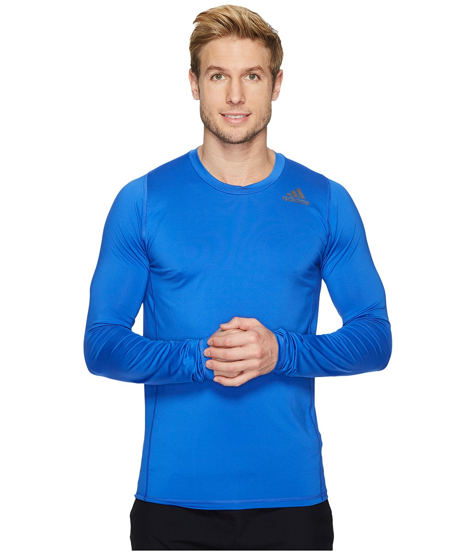 adidas Alphaskin Sport Fitted Long Sleeve Tee (Hi-Res Blue) Men