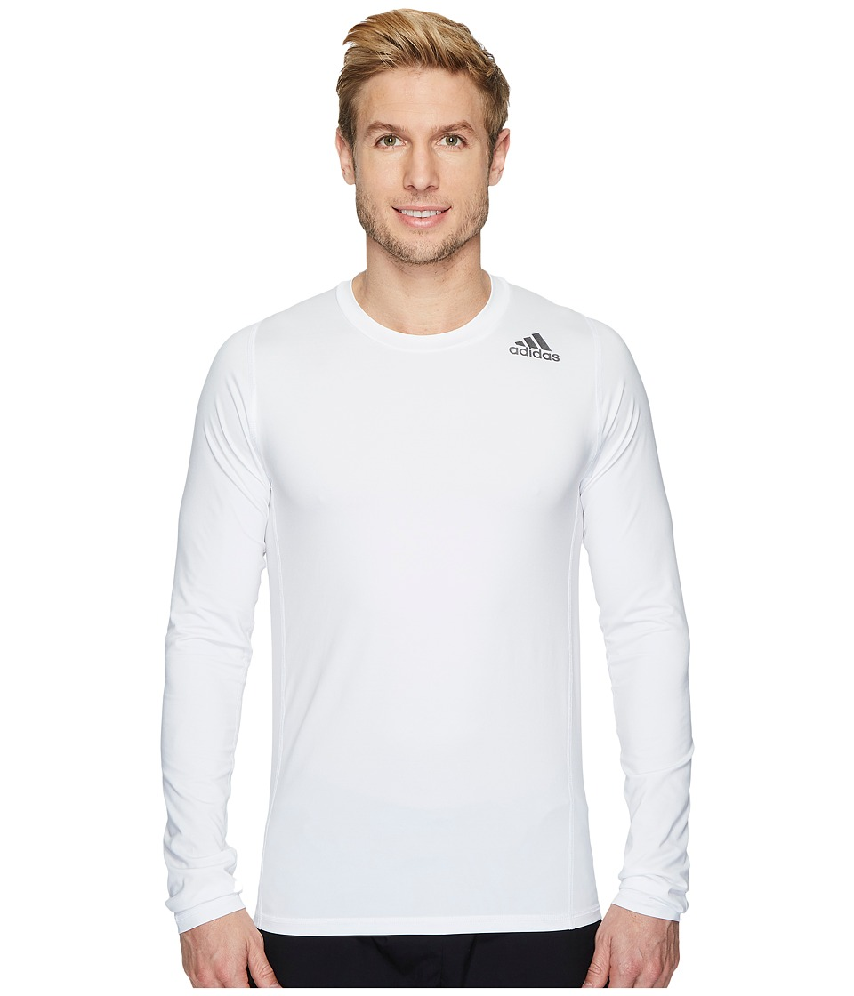 adidas Alphaskin Sport Fitted Long Sleeve Tee (White) Men