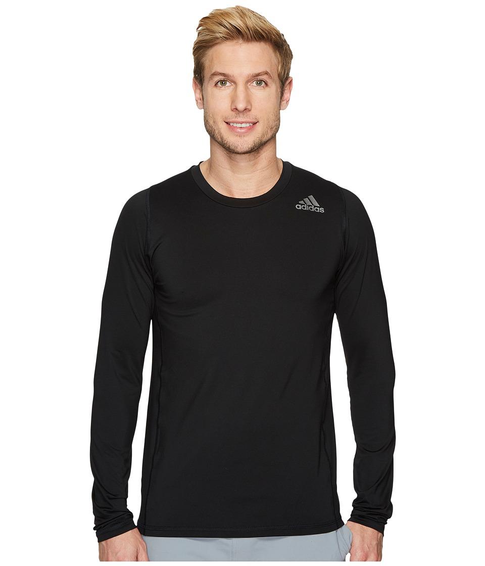 adidas Alphaskin Sport Fitted Long Sleeve Tee (Black) Men