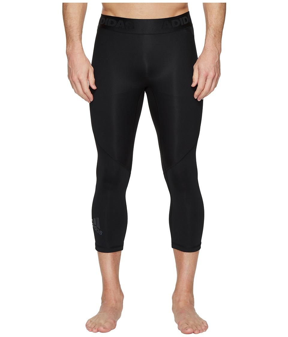 adidas Alphaskin Sport 3/4 Tights (Black) Men
