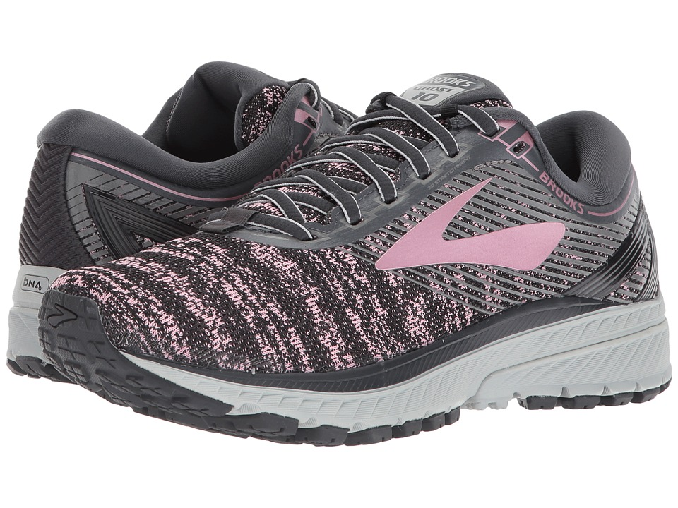 BROOKS Ghost 10 (Grey/Rose Gold/Black) Women's Running Shoes