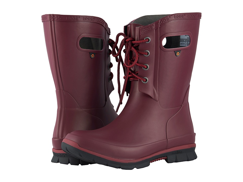 Bogs Amanda 4-Eye Boot (Burgundy)
