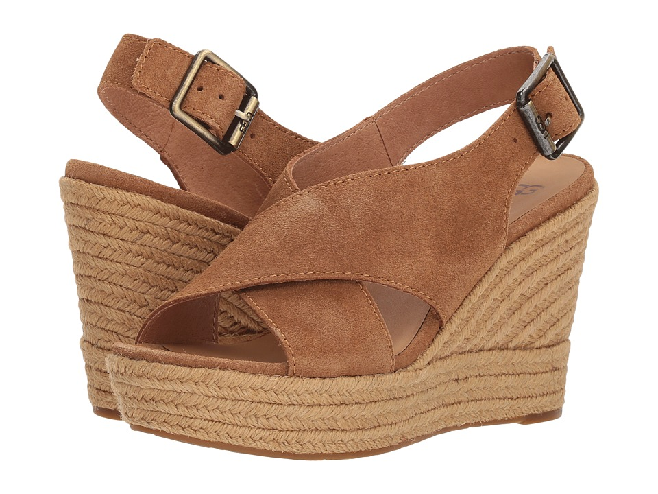UGG - Harlow (Chestnut) Womens Wedge Shoes