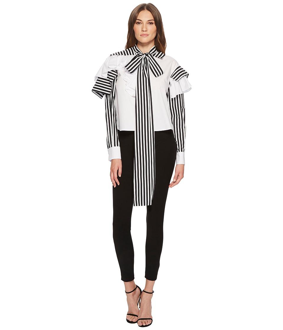 Preen by Thornton Bregazzi - Dexter Shirt (White/Black/White) Womens T Shirt