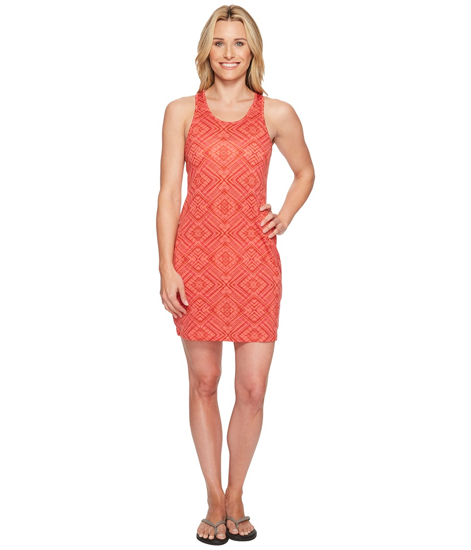 Smartwool - Basic Merino 150 Pattern Dress (Bright Coral) Womens Dress