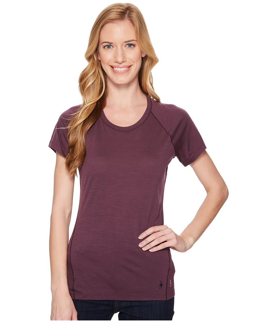 Smartwool Merino 150 Baselayer Pattern Short Sleeve (Bordeaux) Women