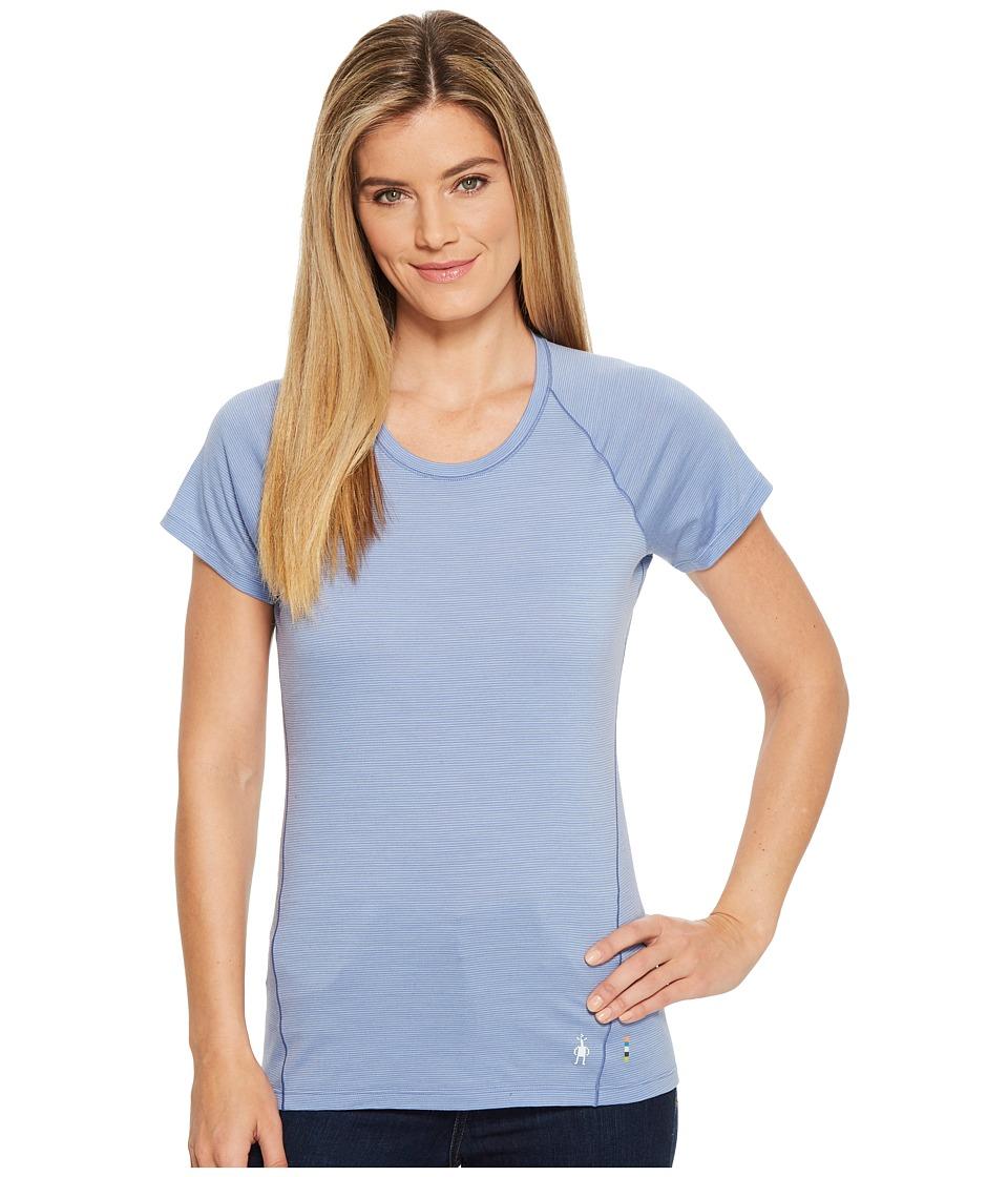 Smartwool Merino 150 Baselayer Pattern Short Sleeve (Blue Steel) Women