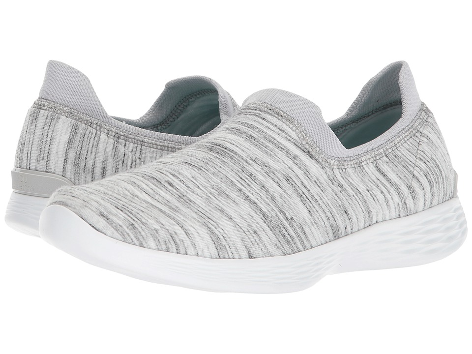SKECHERS Performance You - Define Grace (White/Gray) Women's Shoes