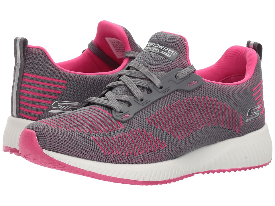 BOBS from SKECHERS Bobs Squad Twinning (Charcoal/Pink) Women