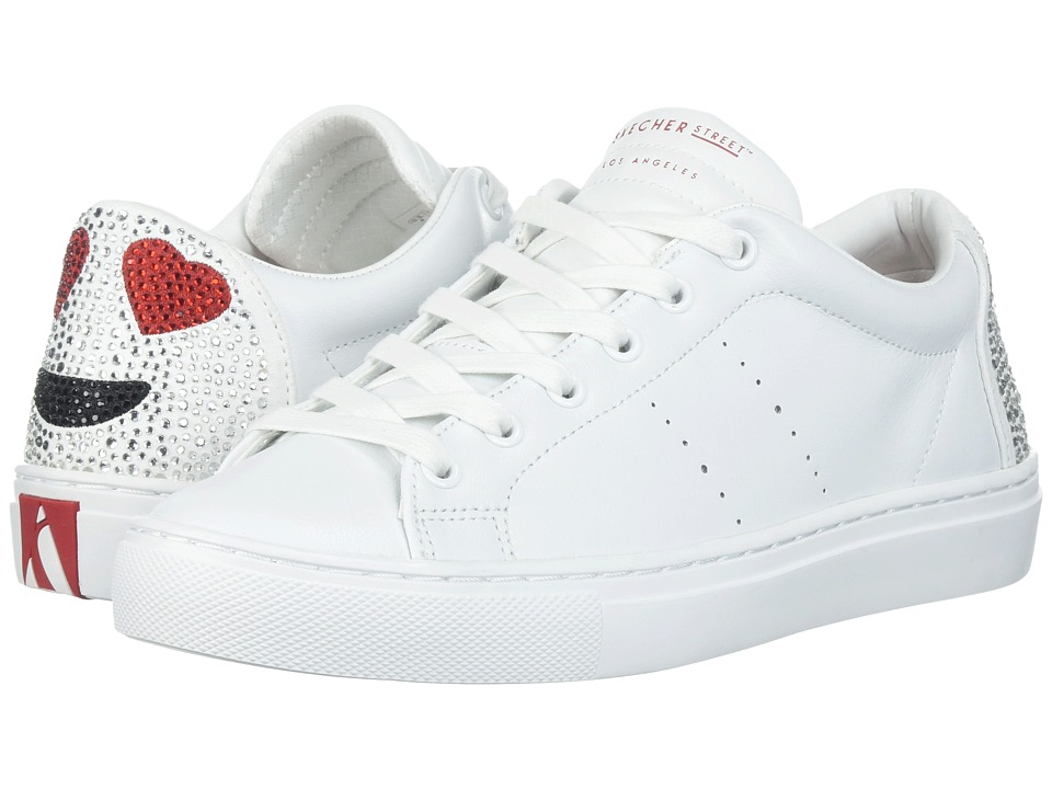 SKECHERS - Side Street - Love Is Blind (White) Womens Lace up casual Shoes