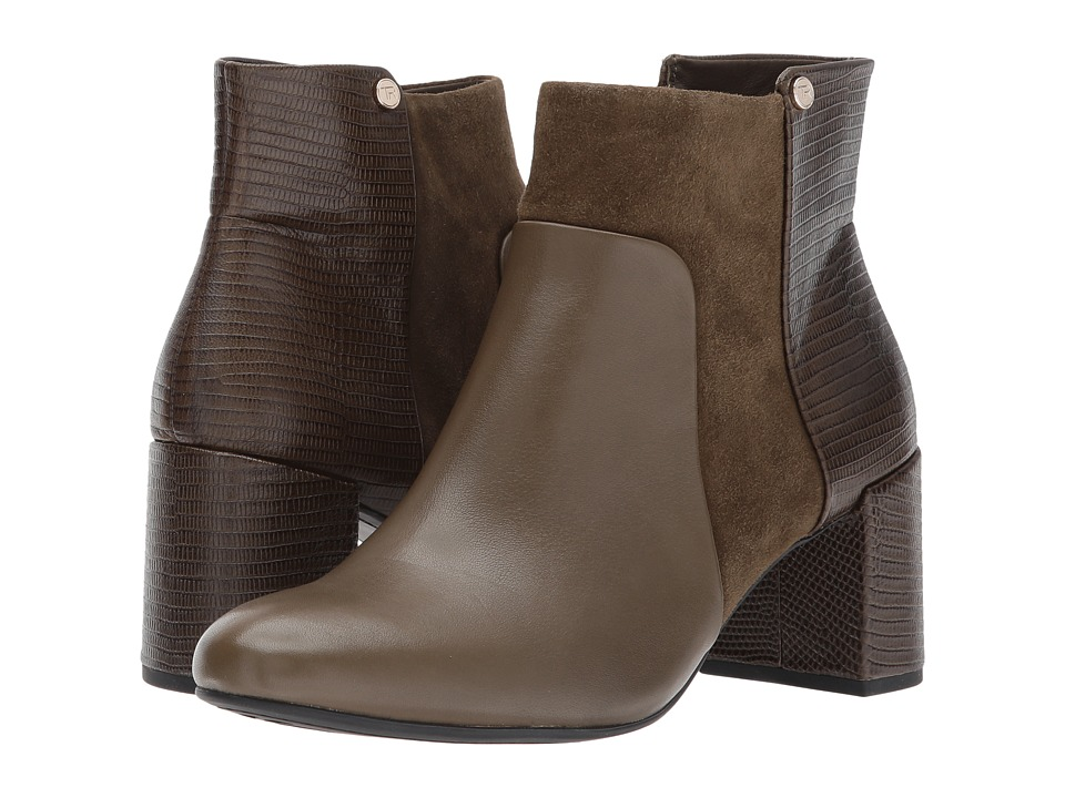Taryn Rose Camille (Olive/Olive Silky Cow/Silky Suede/Lux Lizard) Women