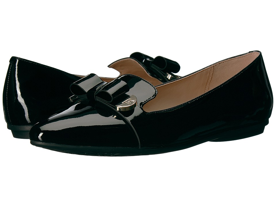Taryn Rose - Edith (Black Soft Patent) Womens Dress Flat Shoes