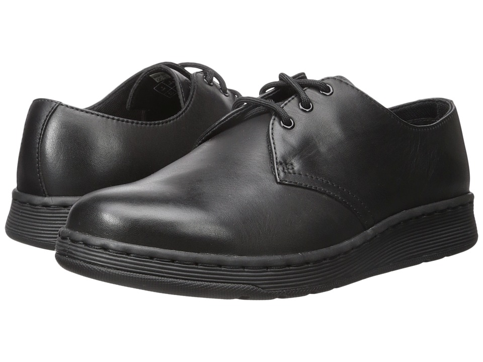 Dr. Martens - Cavendish 3-Eye Shoe (Black Temperley 1) Lace up casual Shoes