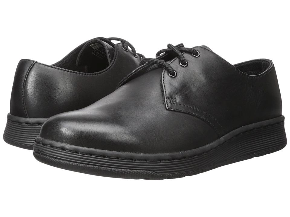 Dr. Martens Cavendish 3-Eye Shoe (Black Temperley 1) Lace up casual Shoes