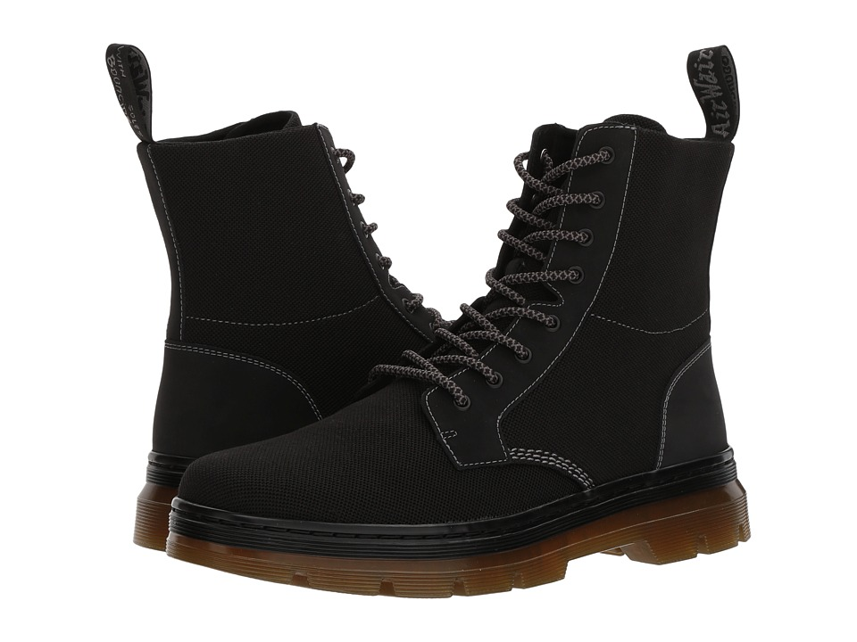 Dr. Martens Combs II (Black K Tech Knit/Black Cascade Split) Boots