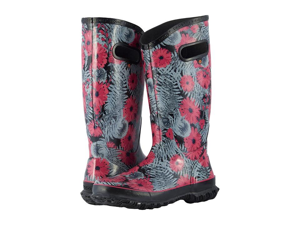 Bogs Rainboot Living Garden (Black Multi) Women's Rain Boots