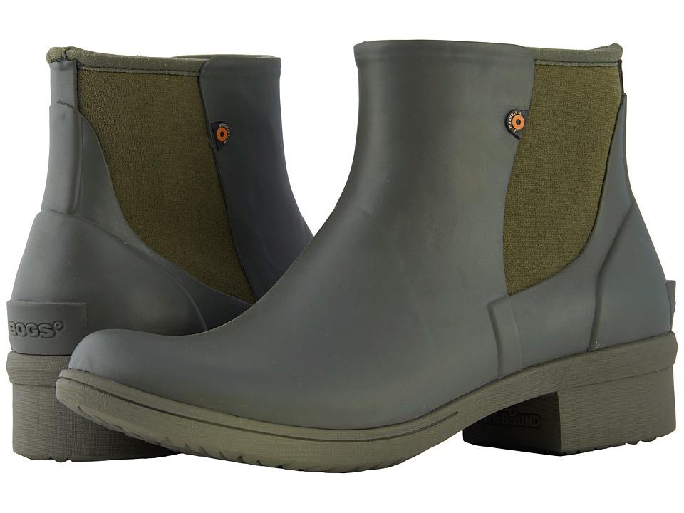 Bogs Auburn Slip-On Boot Rubber (Sage) Women's Rain Boots