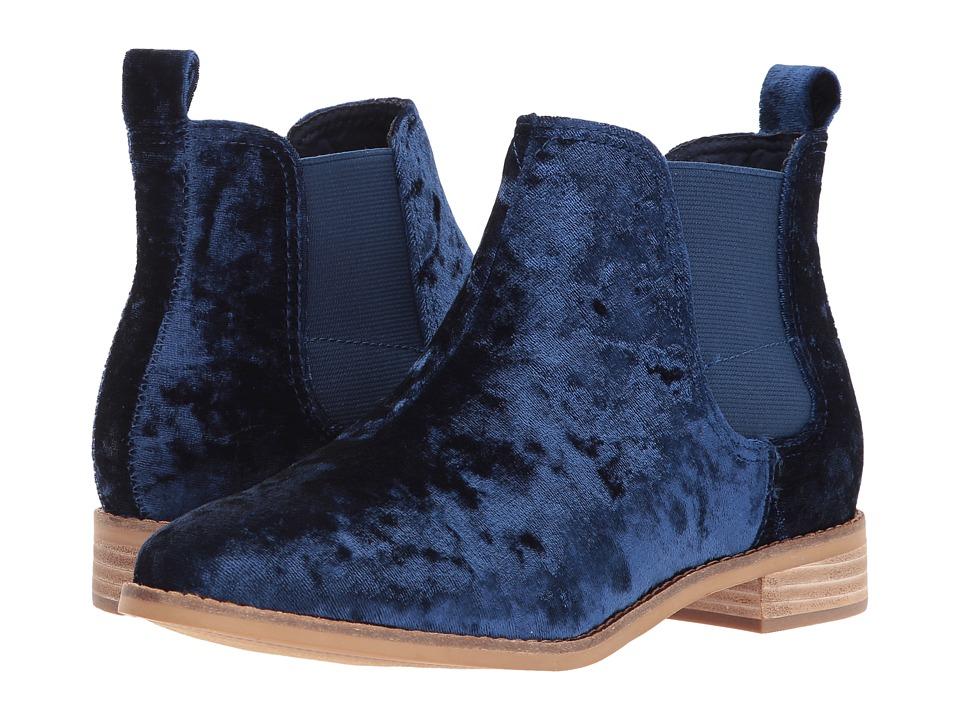TOMS Ella (Navy Velvet) Women's Pull-on Boots