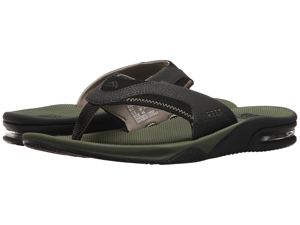 Reef - Fanning (Olive/Black) Men's Sandals