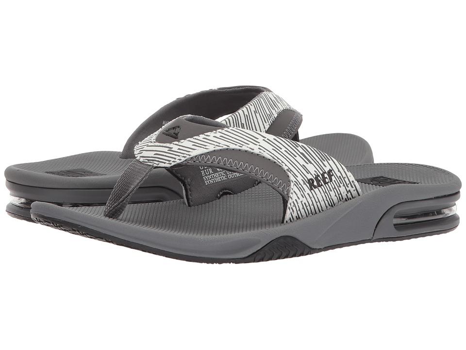 Reef - Fanning Prints (Grey Lines) Men's Sandals