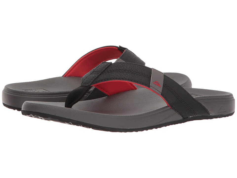 Reef - Cushion Bounce Phantom (Grey/Red) Men's Sandals