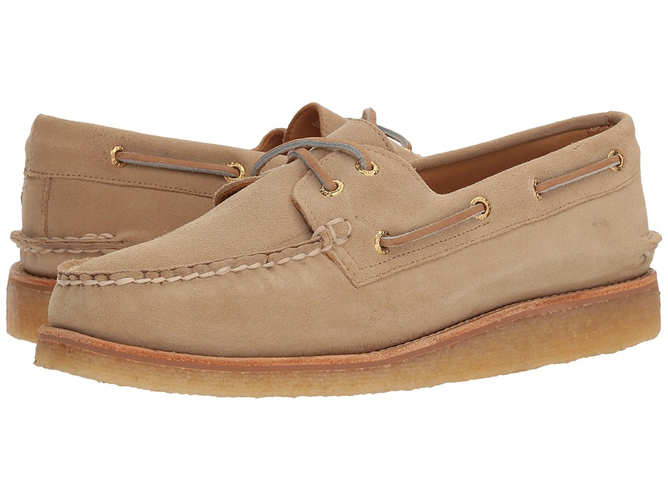 Sperry Gold A/O 2-Eye Crepe Suede (Sand) Men