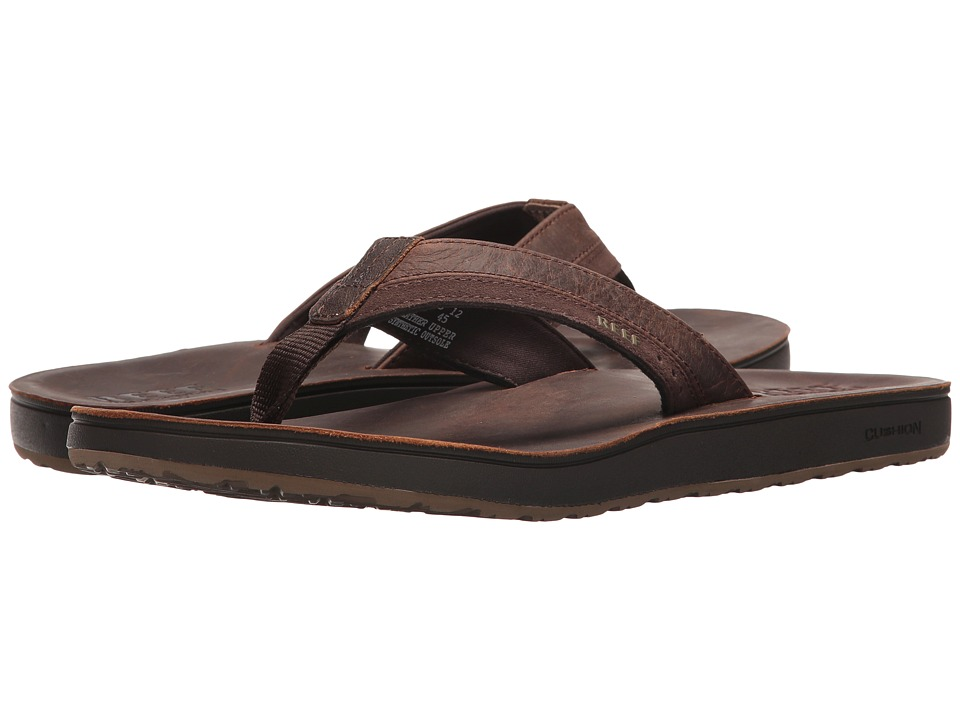 Reef - Leather Contour Cushion (Chocolate) Men's Sandals