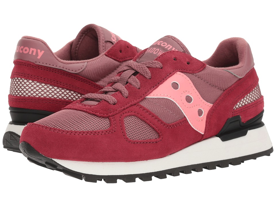 Saucony Originals - Shadow Original (Maroon/Pink) Womens Classic Shoes