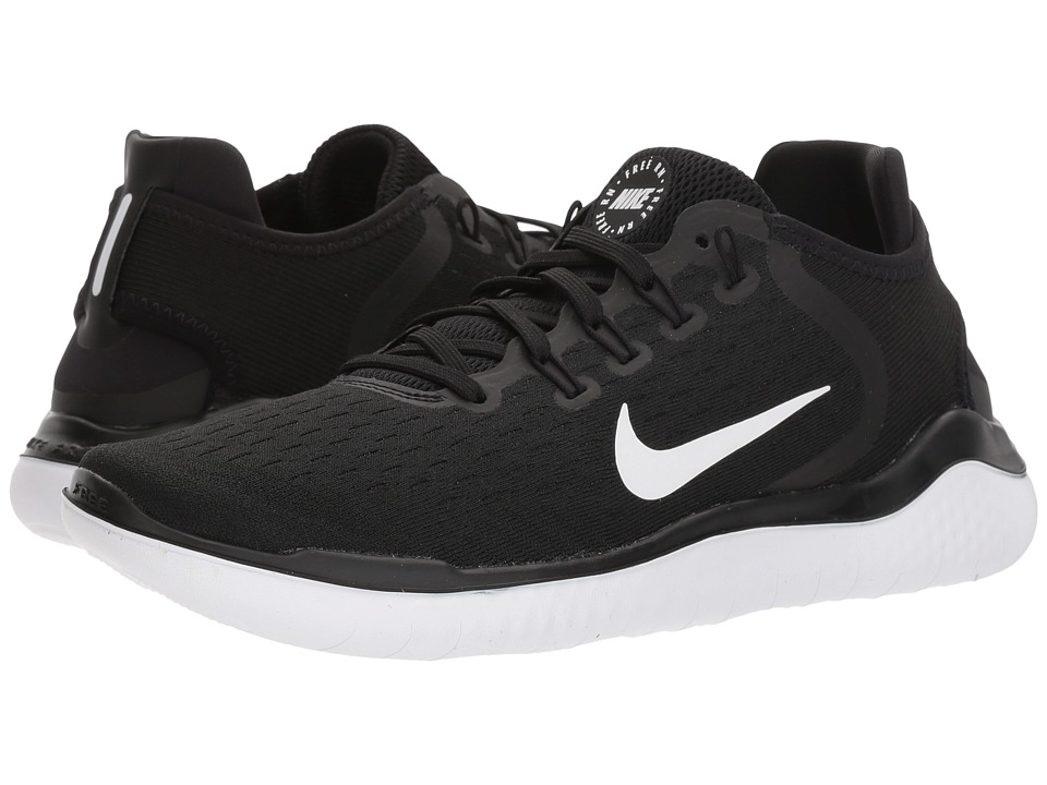 Nike Free RN 2018 (Black/White) Women's Running Shoes