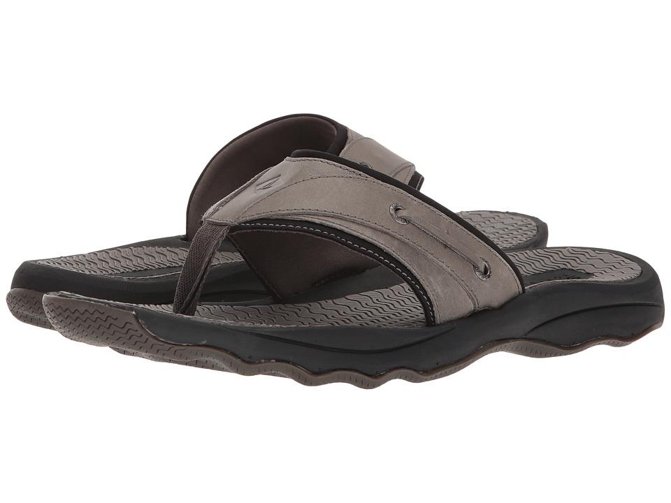 Sperry - Outer Banks Thong Sandal (Grey/Black) Men's Sandals