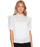 Rebecca Taylor - Short Sleeve Silk With Lace Top