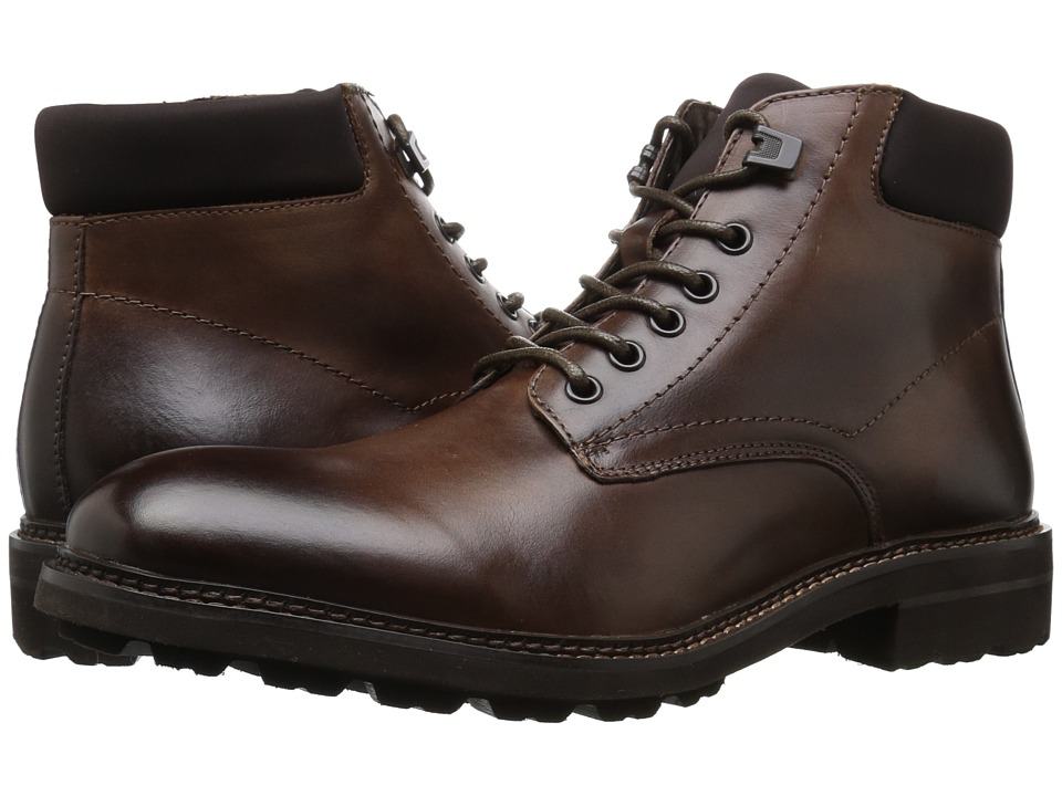 Kenneth Cole New York - Design 10445 (Cognac) Mens Dress Lace-up Boots