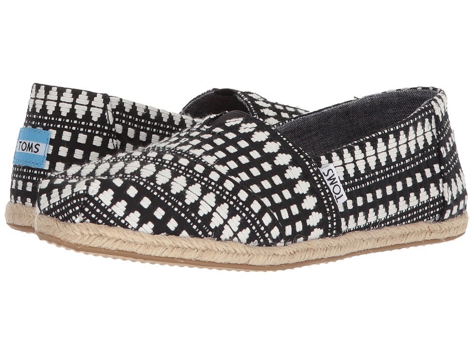 TOMS - Seasonal Classics (Black Diamond Tribal) Womens Slip on  Shoes