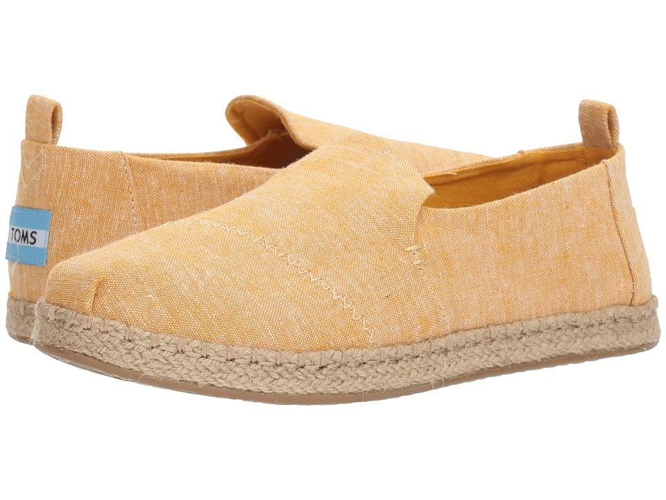 TOMS Deconstructed Alpargata Rope (Mustard Slub Chambray) Slip-On Shoes