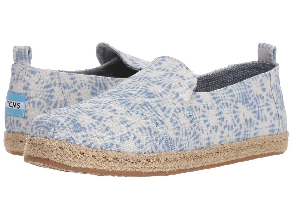 TOMS Deconstructed Alpargata Rope (White Shibori) Slip-On Shoes