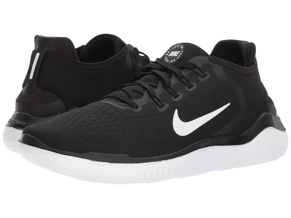 Nike Free RN 2018 (Black/White) Men's Running Shoes