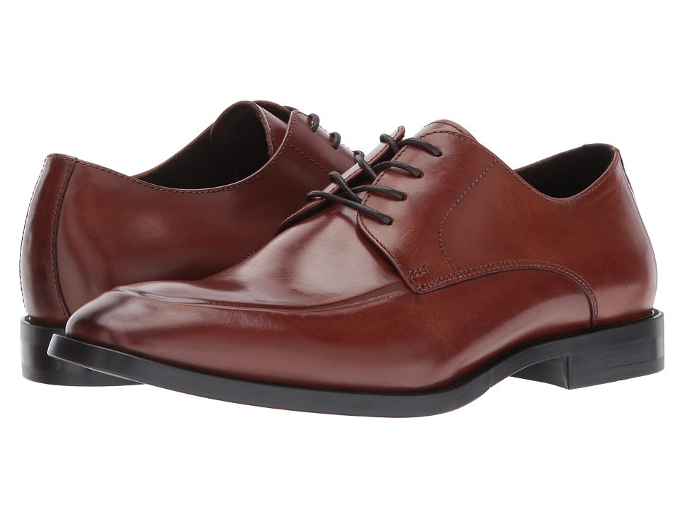 Kenneth Cole New York - Design 10571 (Brandy) Mens Lace Up Cap Toe Shoes