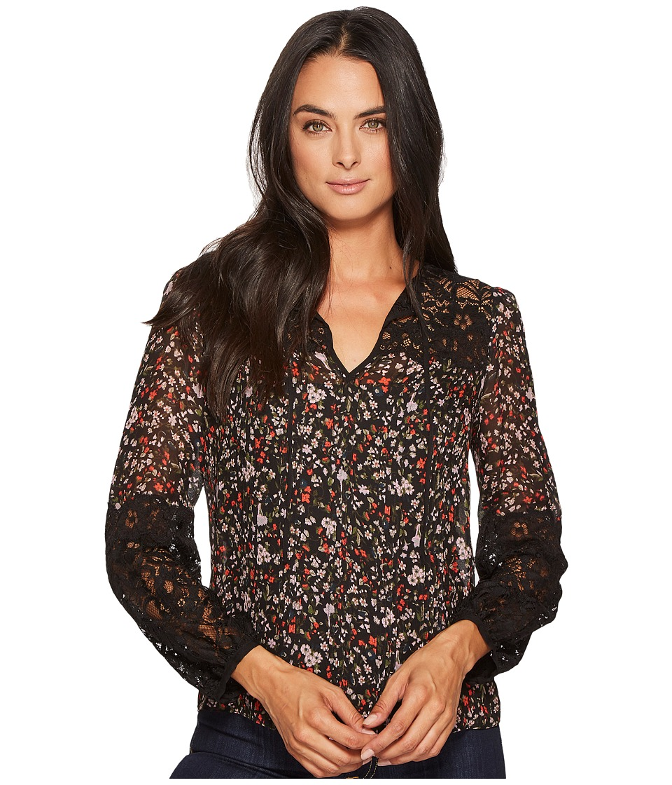 Rebecca Taylor - Long Sleeve Lyra Floral Lace Top