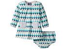 Toobydoo Geo Blue Pocket Dress (Infant/Toddler)