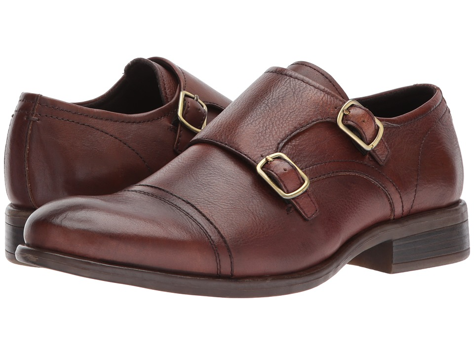 1960s Style Men's Clothing, 70s Men's Fashion Kenneth Cole New York - DESIGN 10614 Cognac Mens Monkstrap Shoes $160.00 AT vintagedancer.com